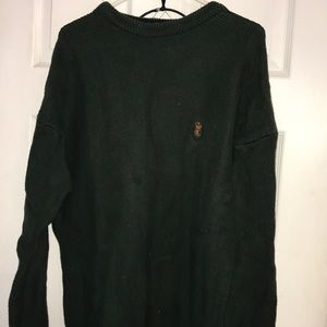 Unisex Ralph Lauren Dark Green Sweater